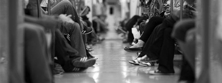 trötta fötter tunnelbana